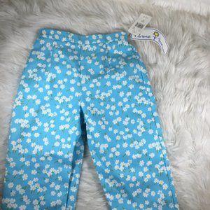 Florence Eiseman Blue Floral Pants NWT Size 8